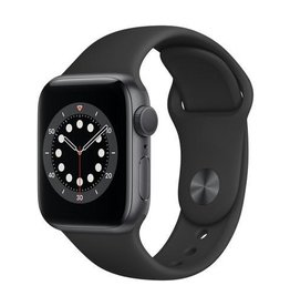 Apple Series 6 GPS, 40mm Space Gray Aluminium Case with Black Sport Band- OB