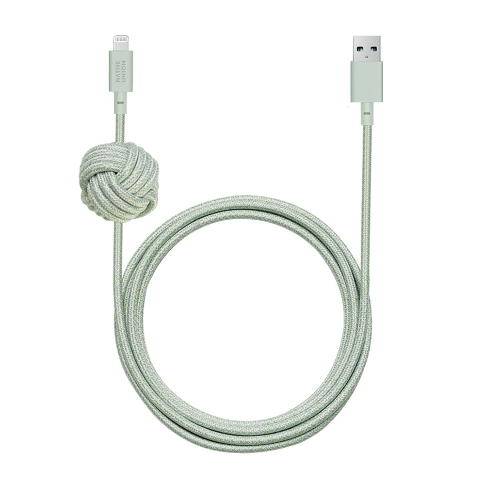 Native Union Native Union 3M USB-C to Lightning Knot Night Cable - Sage
