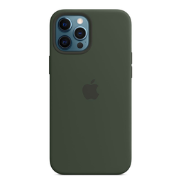 Apple Apple iPhone 12 Pro Max Silicone Case with MagSafe - Cypress Green