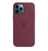 Apple Apple iPhone 12 Pro Max Silicone Case with MagSafe - Plum