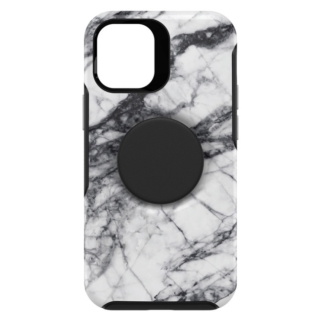 Otterbox Otterbox Otter + Pop Symmetry Case with Swappable PopTop for iPhone 12 mini - White Marble