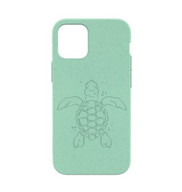 Pela Pela Compostable Eco-Friendly Protective Case for iPhone 12 mini - Turquoise Turtle