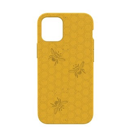 Pela Pela Compostable Eco-Friendly Protective Case for iPhone 12 mini - Yellow Honey Bee
