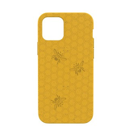 Pela Pela Compostable Eco-Friendly Protective Case for iPhone 12 Pro Max - Yellow Honey Bee