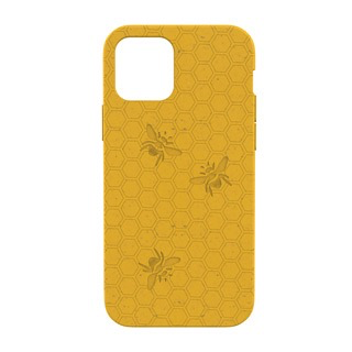 Pela Pela Compostable Eco-Friendly Protective Case for iPhone 12 Pro Max - Yellow Honey Bee