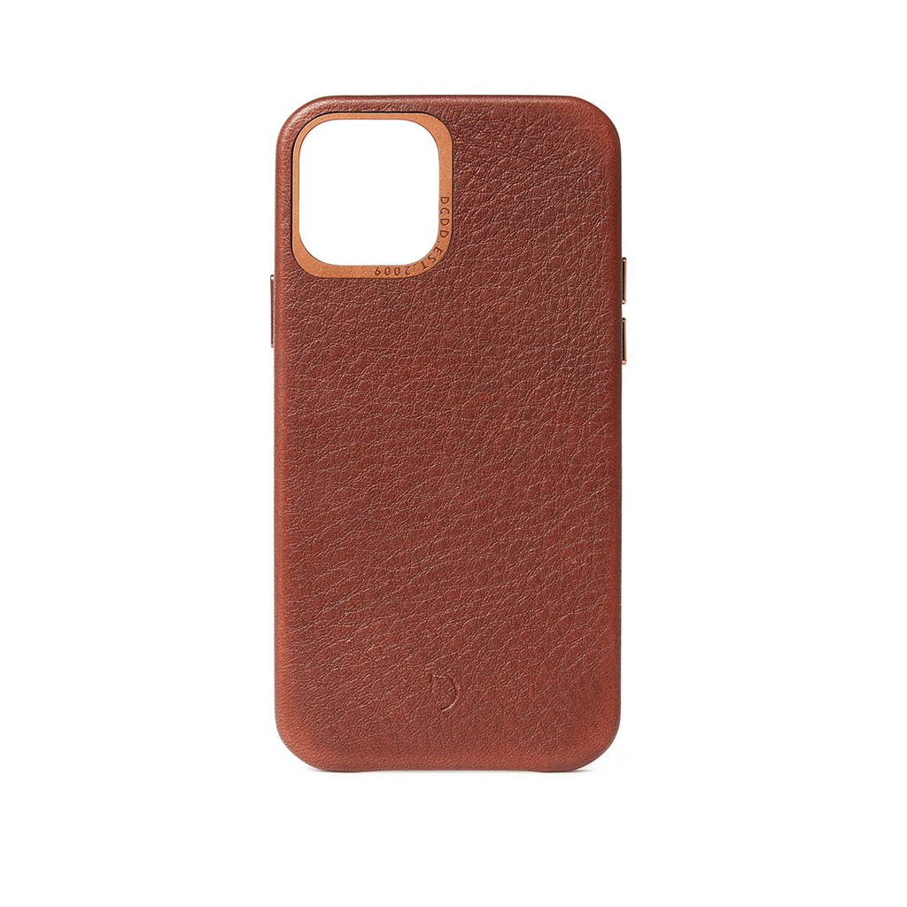 Decoded Decoded Leather Backcover iPhone 12 mini - Chocolate Brown