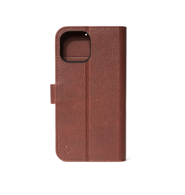 Decoded Decoded Leather Detachable Wallet Case iPhone 12 mini - Chocolate Brown