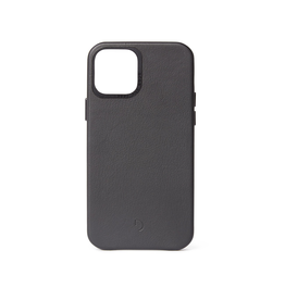 Decoded Decoded Leather Backcover Case iPhone 12 / 12 Pro - Black