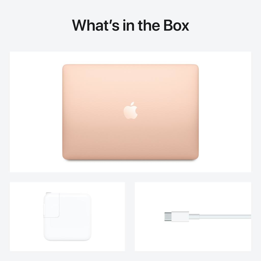 Apple NEW 13-inch MacBook Air: Apple M1 chip with 8-core CPU and 7-core GPU, 8GB unified memory, 256GB - Gold