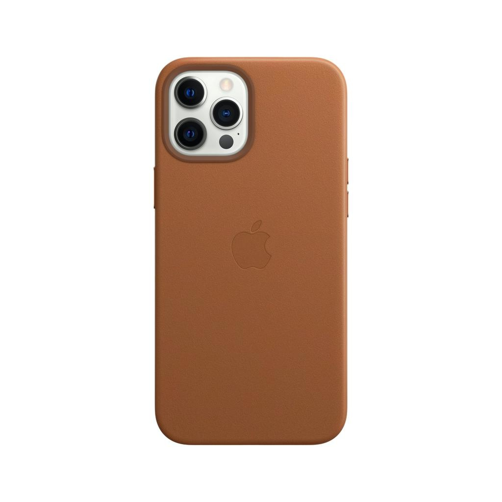 Apple iPhone 12   12 Pro Leather Case with MagSafe - Saddle Brown