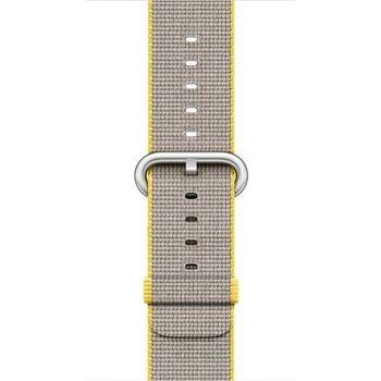 Apple Apple 38mm Yellow/Light Grey Woven Nylon (Demo - Try On)