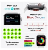 Apple Series 6 GPS + Cellular, 40mm Gold Stainless Steel Case with Cyprus Green Sport Band