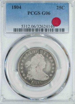 1804 PCGS G06 Draped Bust Quarter