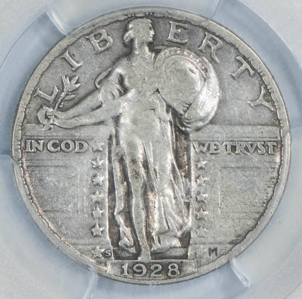 1928 S PCGS VF30 Standing Liberty Quarter