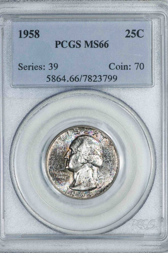 1958 PCGS MS66 Washington Quarter
