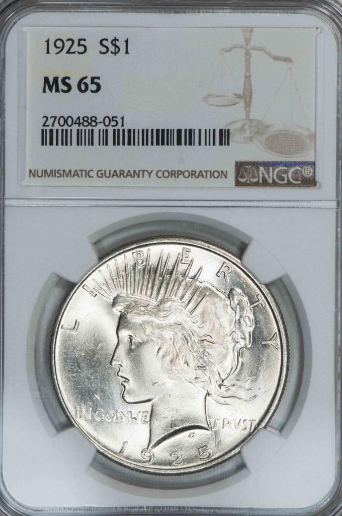 1925 NGC MS65 Peace Dollar