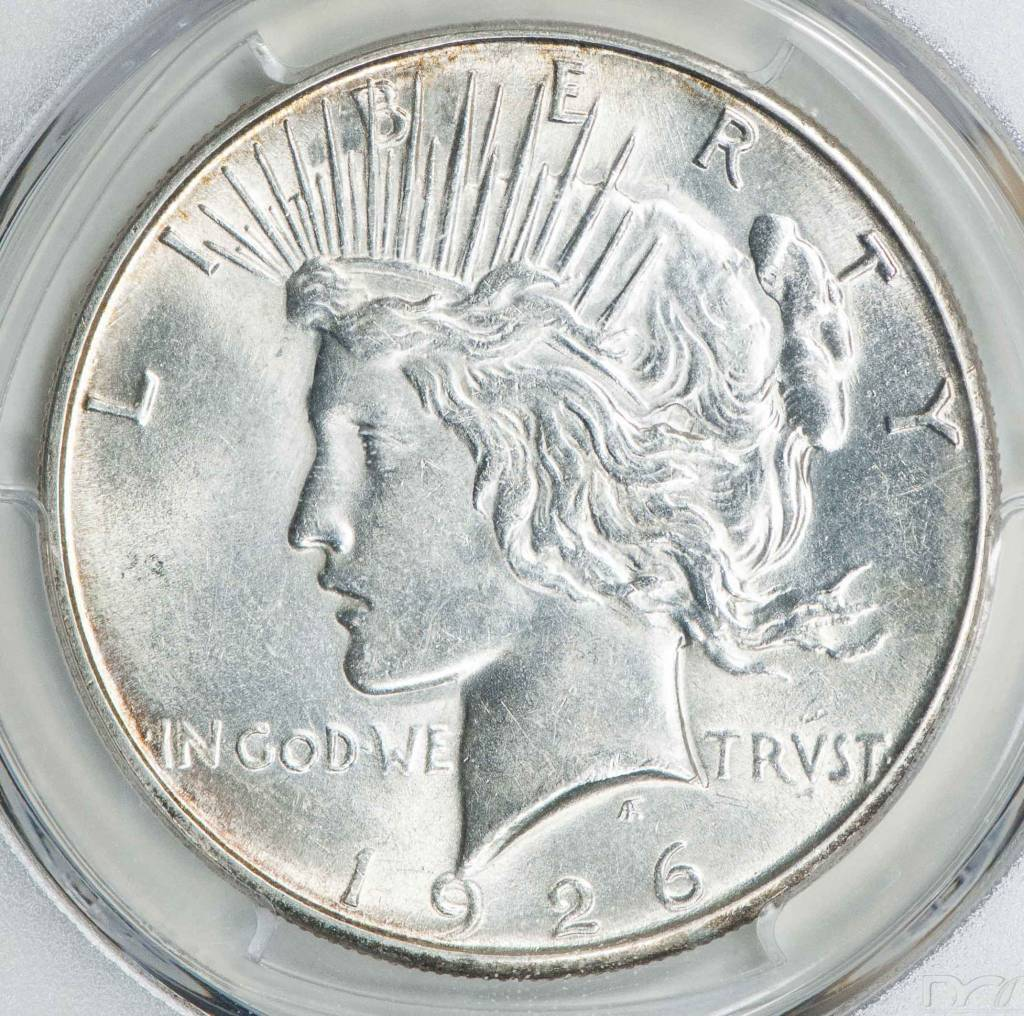 1926 S PCGS AU58 Peace Dollar