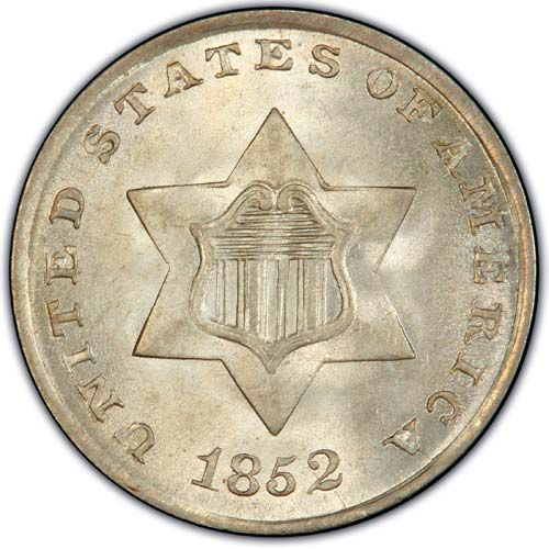 Three Cent Silver TY 1 (1851-1853)