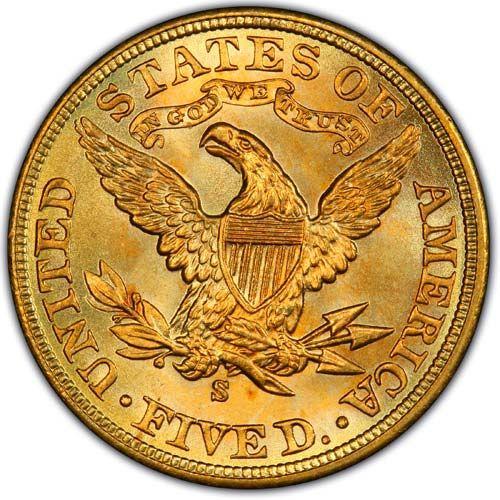 Half Eagles $5.00