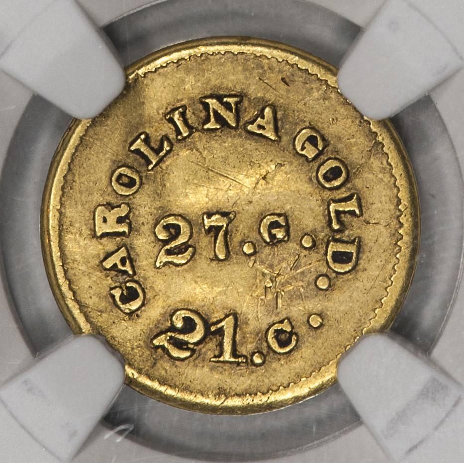 (1845-50) A. BECHTLER NGC AU DETAILS $1