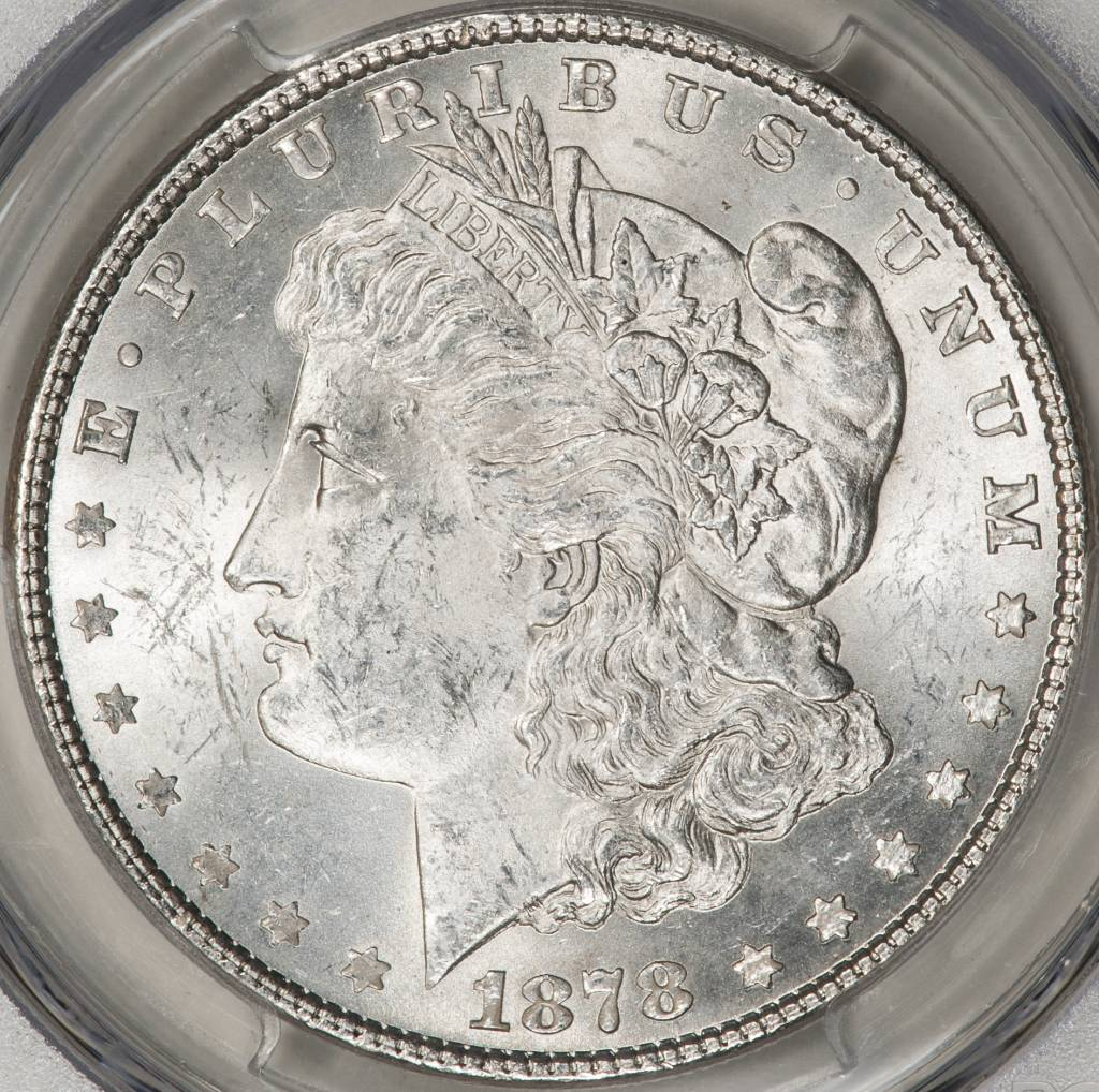 1878 7TF PCGS MS63 REV OF 1879 Morgan Dollar