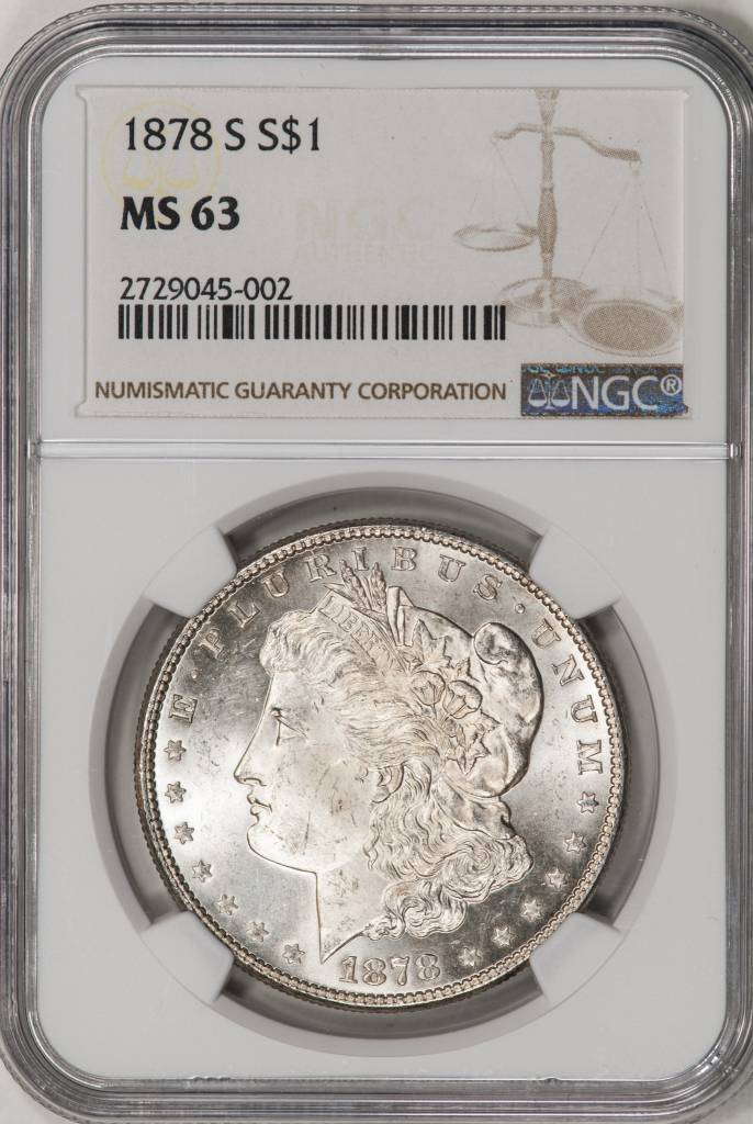 1878-S NGC MS63 Morgan Silver Dollar