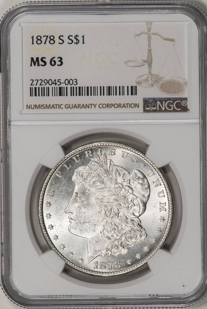 1878-S NGC MS63 Morgan Silver Dollar