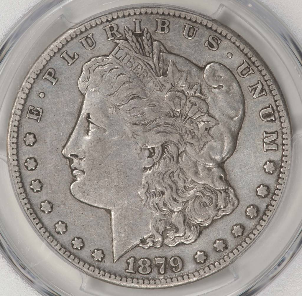1879-CC PCGS GENUINE VF DETAILS MORGAN