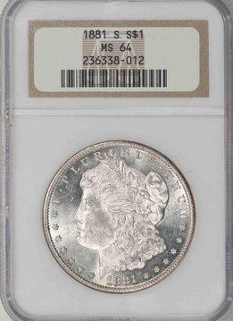 1881 S NGC MS64 Morgan Silver Dollar