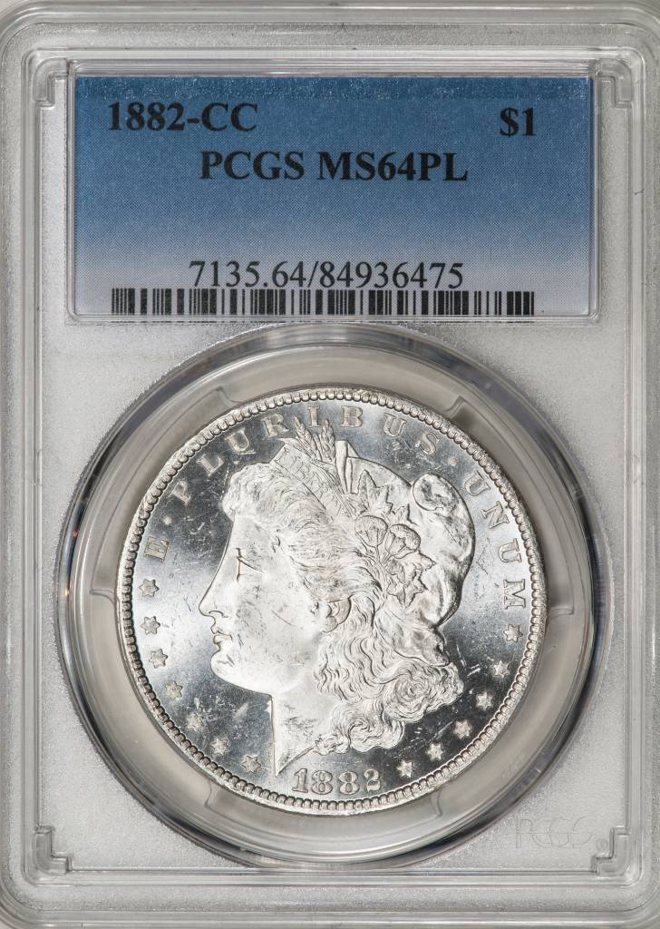 1882 CC PCGS MS64PL Morgan Silver Dollar