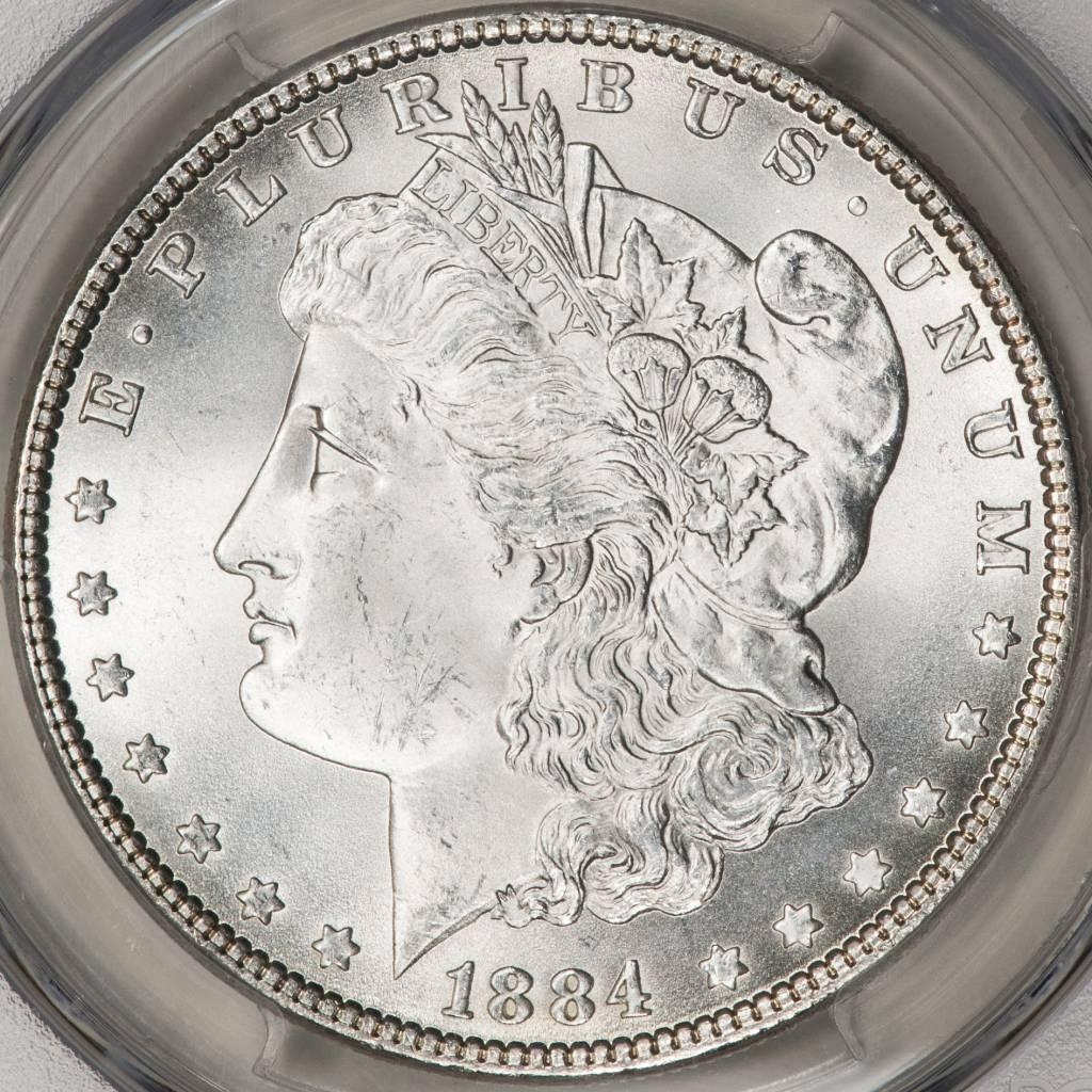 1884 PCGS MS65 Morgan Silver Dollar