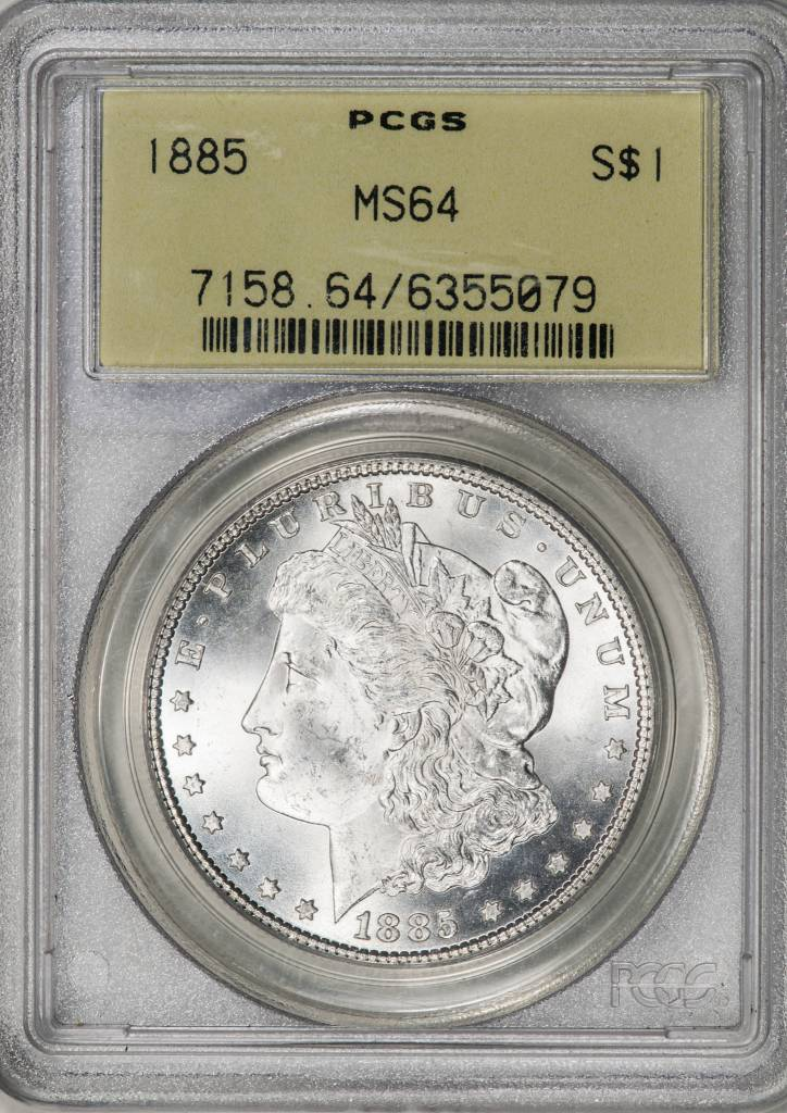 1885 PCGS MS64 Morgan Silver Dollar