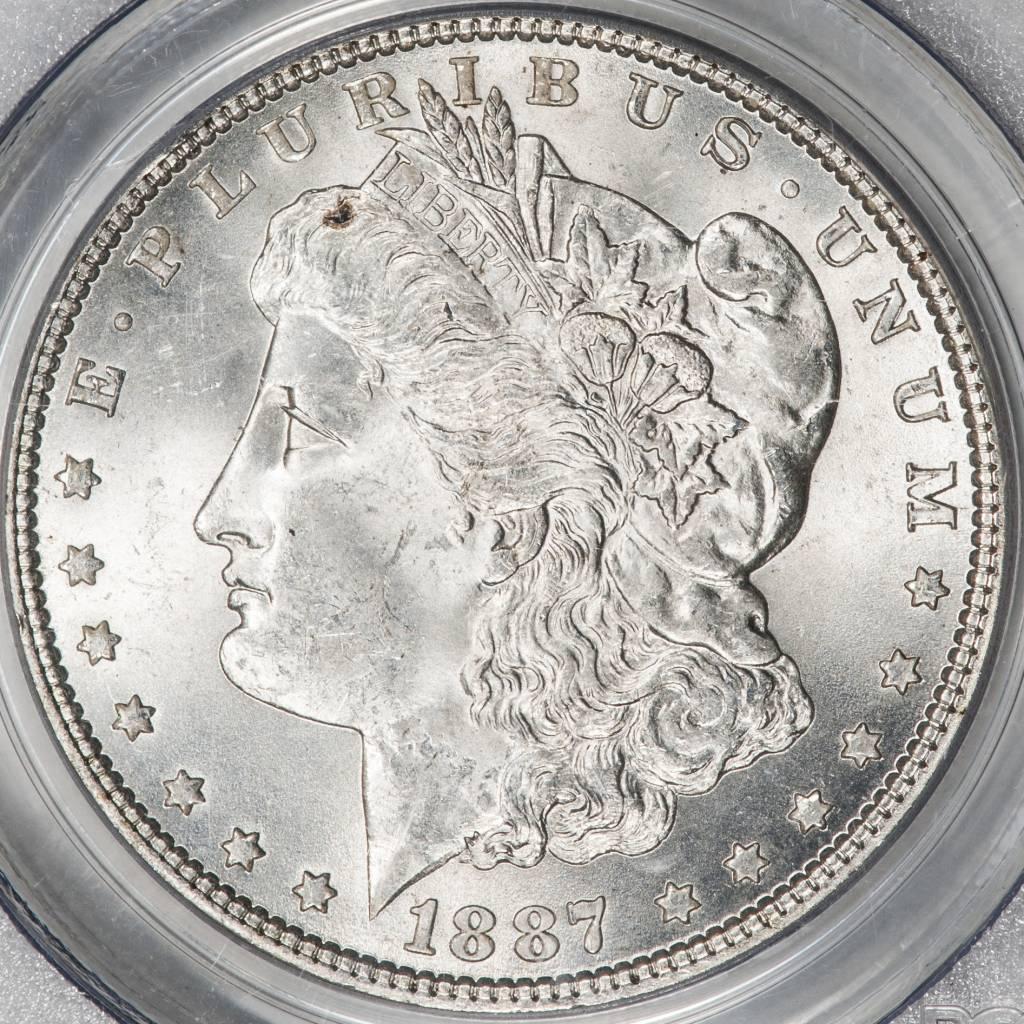 1887 PCGS MS63 Morgan Silver Dollar