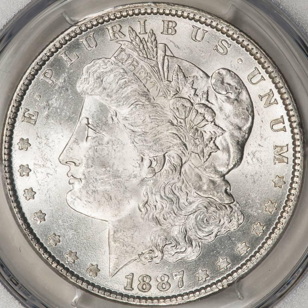 1887 PCGS MS62 Morgan Silver Dollar
