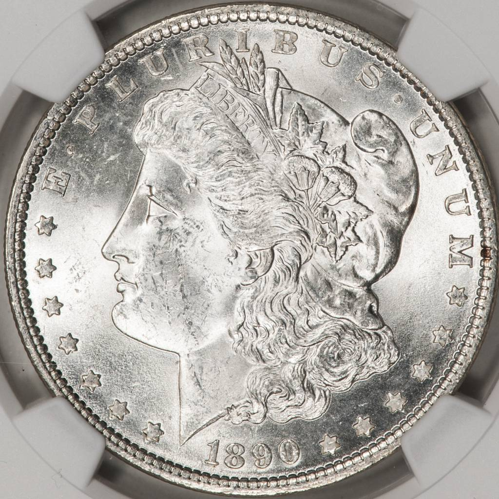 1890 NGC MS62 Morgan Silver Dollar