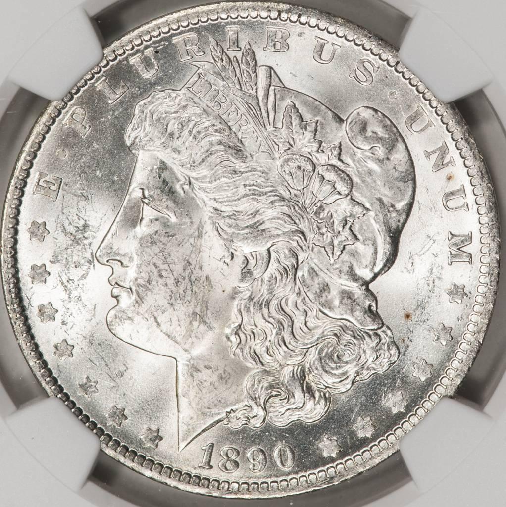 1890-O NGC MS62 Morgan Silver Dollar