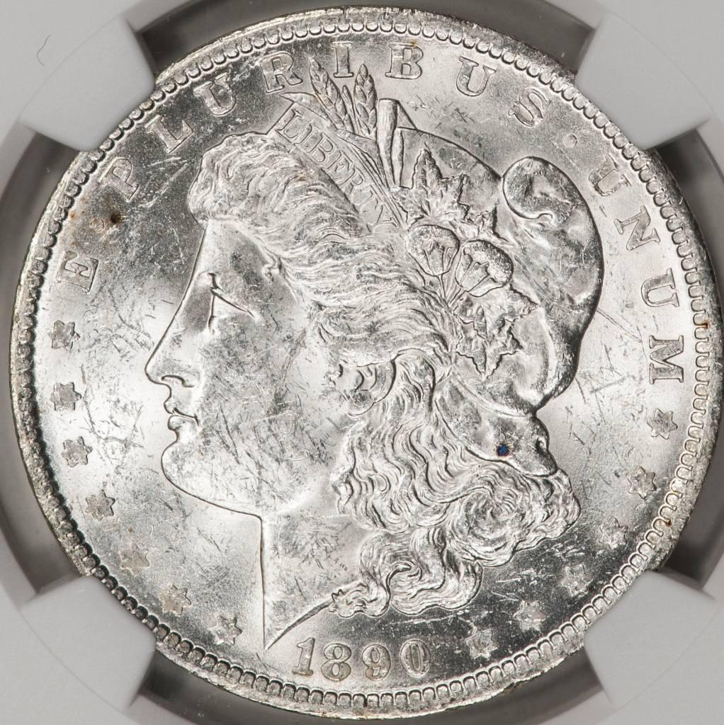 1890-O NGC MS61 Morgan Silver Dollar