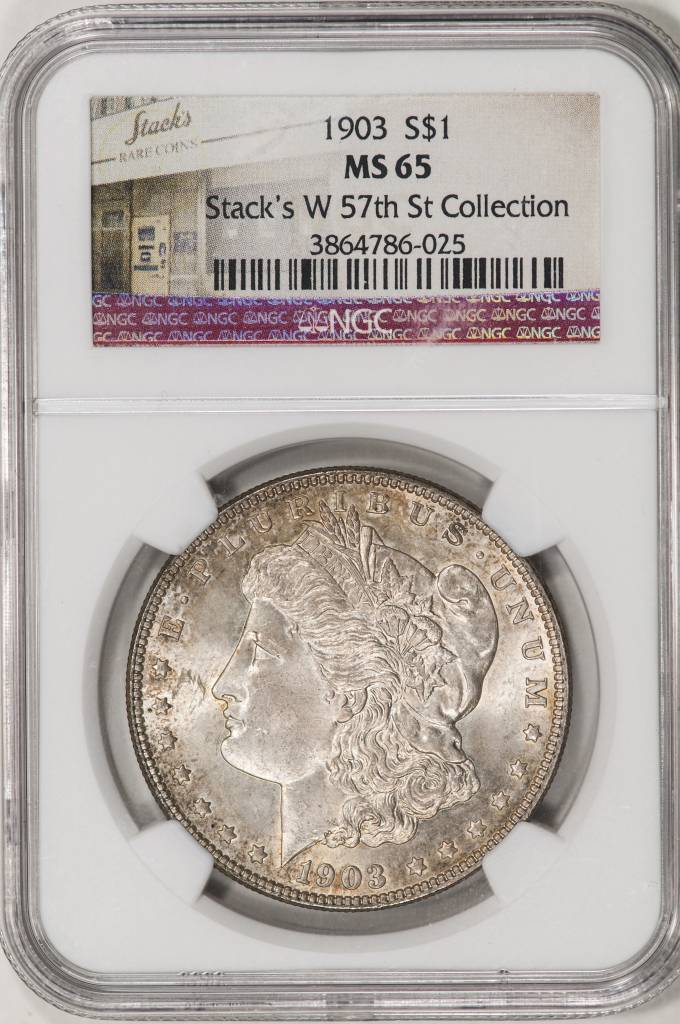 "1903 NGC MS65 Morgan Silver Dollar ""Stack's"""