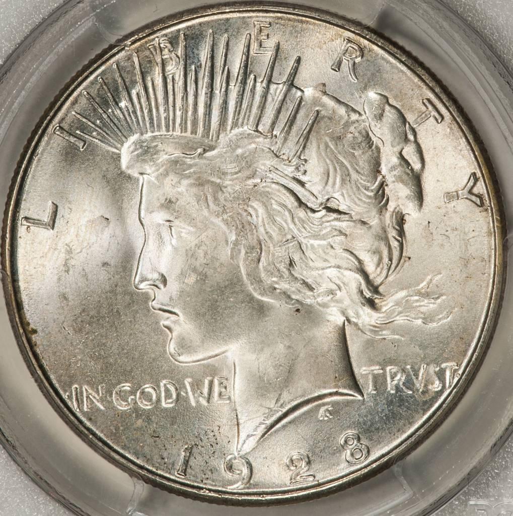 1928-S PCGS MS63 Peace Silver Dollar