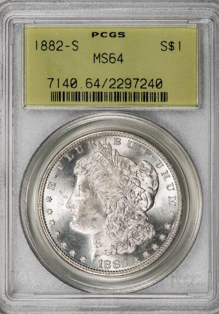 1882 S PCGS MS64 Morgan Silver Dollar