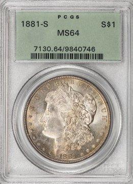 1881 S PCGS MS64 Morgan Silver Dollar
