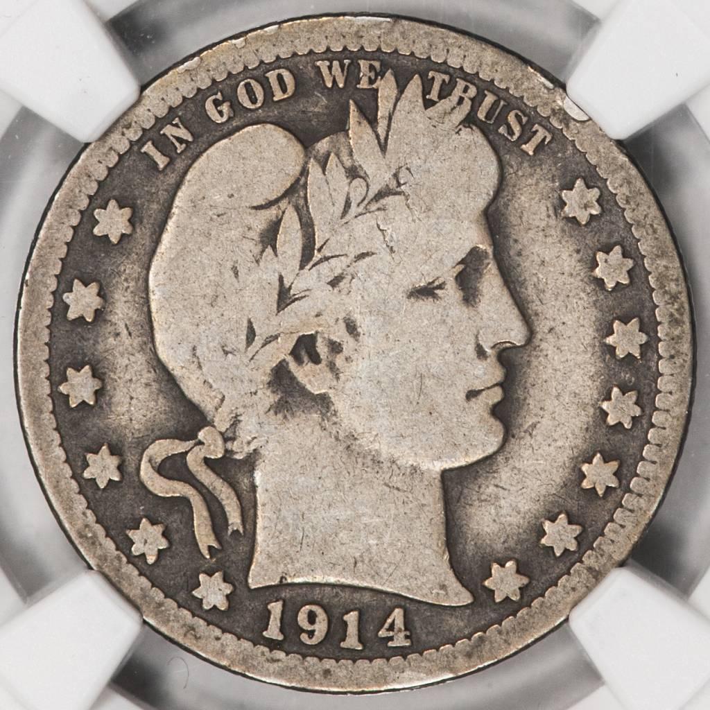 1914-S NGC G6 Barber Quarter
