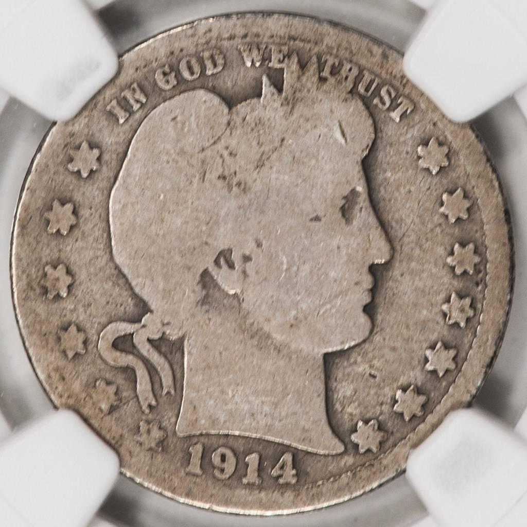 1914-S NGC AG3 Barber Quarter