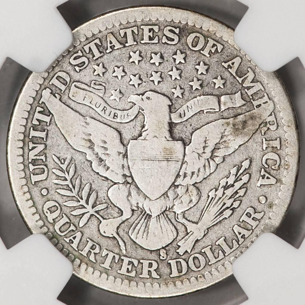 1915-S NGC VG Details Barber Quarter