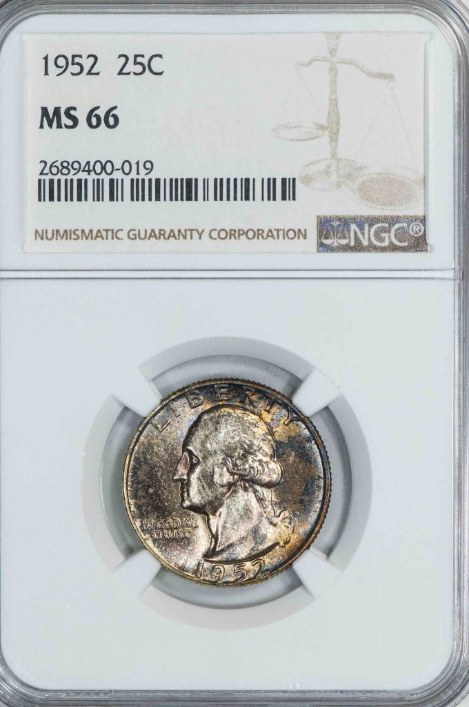 1952 NGC MS66 Washington Quarter
