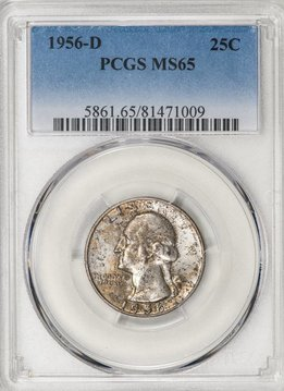 1956-D PCGS MS65 Washington Quarter