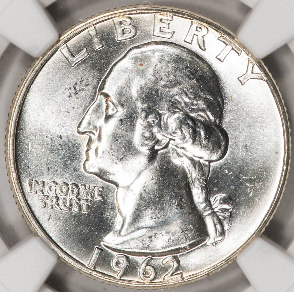 1962 NGC MS64 Washington Quarter