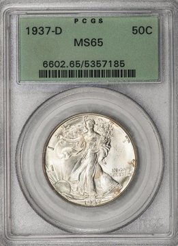1937-D PCGS MS65 Walking Liberty Half Dollar