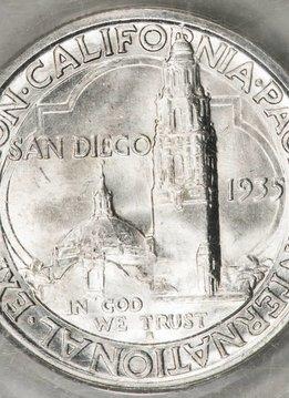 1935 S PCGS MS65 San Diego Commemorative Half Dollar
