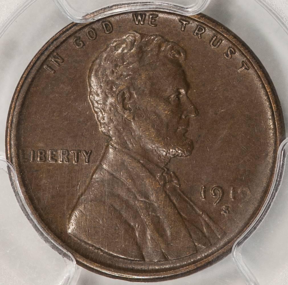 1919 S PCGS AU53 Lincoln Cent